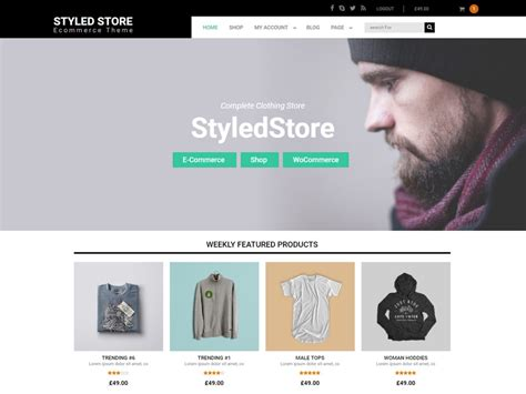 store template wordpress styled store tema free template