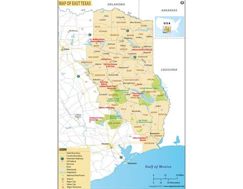 eastern texas map buy printed map of east texas