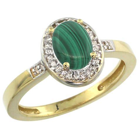 0 83 ctw malachite engagement ring 10k