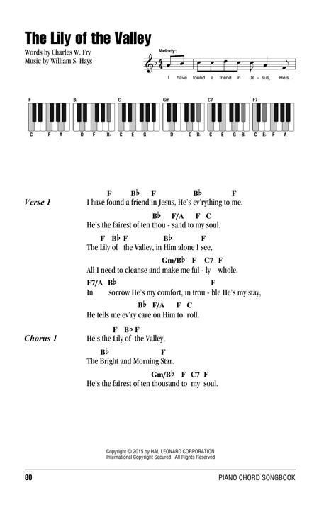 song of velly the of the valley sheet by william s hays