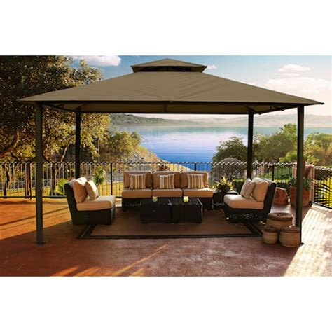 gazebo patio stc paragon outdoor 11 ft x 14 ft avalon gazebo gz584s