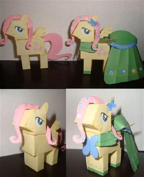 My Pony Paper Crafts - my my pony fluttershy papercraft by watertiger21