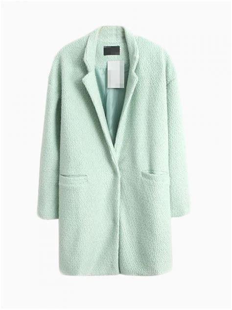 light blue wool coat light green longline wool coat choies