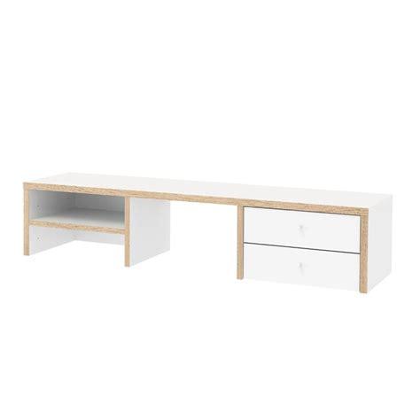 2 drawer desk white 2 drawer and 1 shelf desk hutch in white and oak 8018949ak