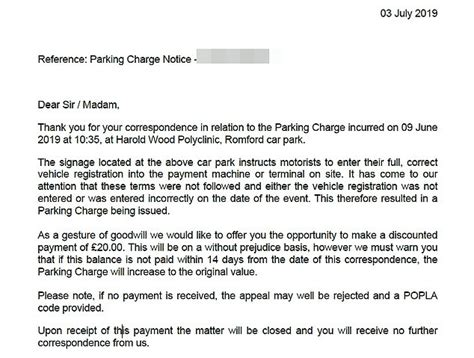 private parking firm insists fining nhs patient