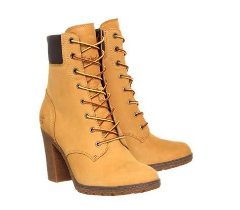 timberland glancy 6 inch heel boots in brown lyst