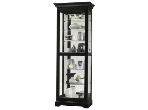 Black Curio Cabinet by Howard Miller Martindale Iii Black Satin Curio Cabinet