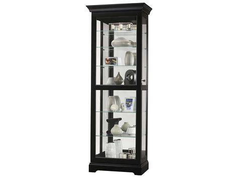 howard miller martindale iii black satin curio cabinet