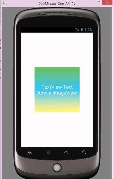 android imageview android overlay textview imageview exle via xml in relativelayout android exles