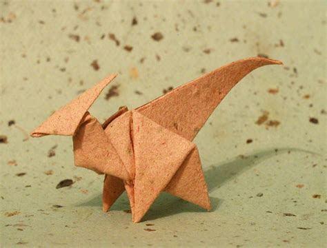 Origami Parasaurolophus - origami parasaurolophus by donyaquick on deviantart