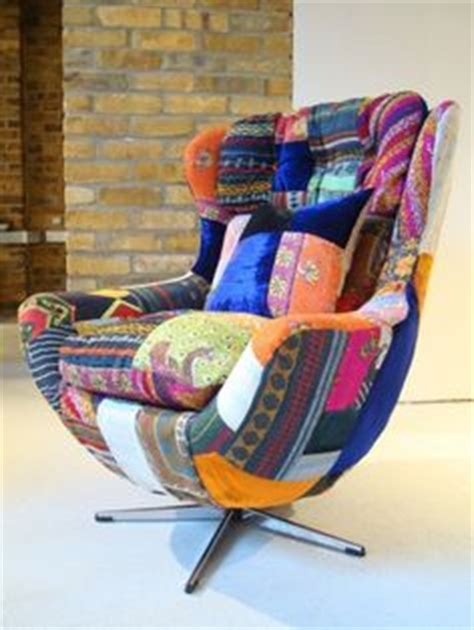 Patchwork Egg Chair - multi patterned patchwork egg chair