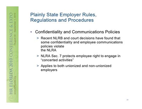 nlra section 7 rights weitzman employee handbooks every word counts