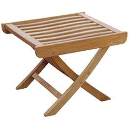 Teak side table or footstool outdoorfurnitureplus com