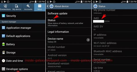 find mobile s4 inside galaxy samsung galaxy s4 how to find imei number