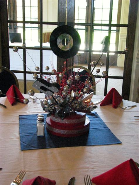 rock n roll centerpiece the party girl events pinterest