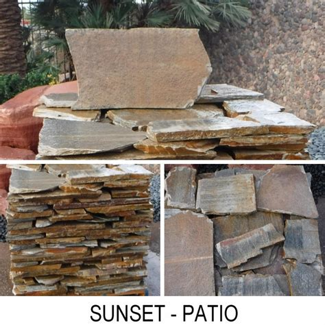 Sunset Patio by Flagstone Boulder Placement