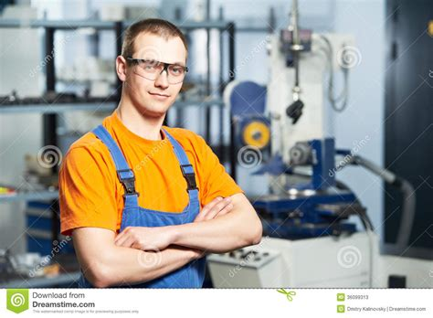 Production Worker by Portrait Of Experienced Industrial Worker Stock Photos Image 36099313