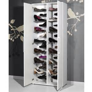Tall Shoe Storage Cabinet Meuble 224 Chaussures Stiletto Blanc 3105 084 Achat