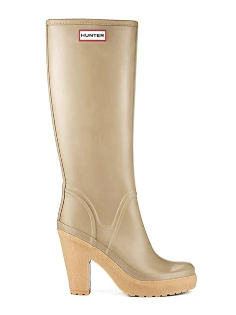 high heel rubber boots