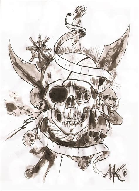 skull and sword tattoo black sword in pirate skull stencil by duckriff