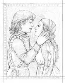 romeo and juliet cartoon drawings sketch coloring page