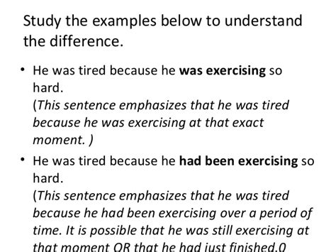 past perfect tense sentence pattern past perfect continuous tense