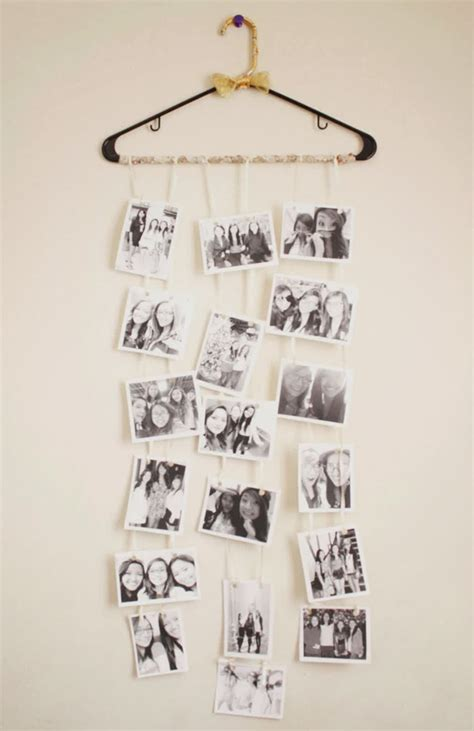 cool diy photo collage  dorm room ideas home