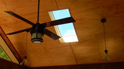 Sunroom Ceiling Fans by Velux Skylight Ceiling Fan And Pendant Lights On Gable
