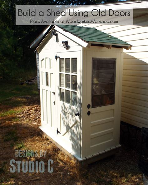 Shed Made From Doors by Plans To Build A Shed With Doors