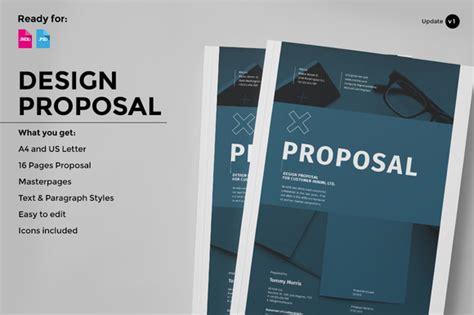 design proposal font design proposal brochure templates on creative market
