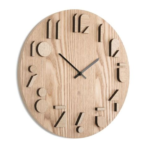 wood clock designs umbra shadow wall clock designer wooden clock