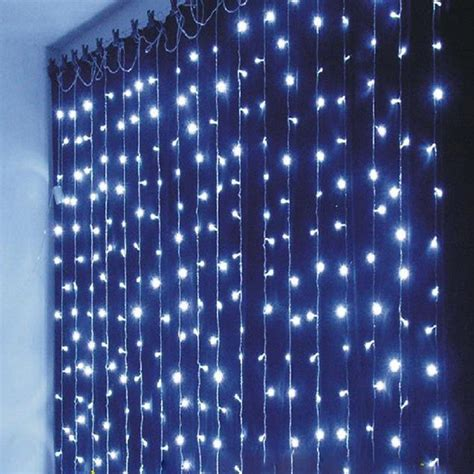 Christmas Outdoor Decoration 3m X 1m Curtain Icicle String Outdoor Led Icicle Lights