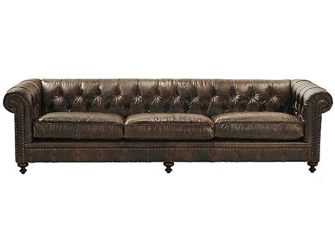 london club sofa london club 117 quot leather sofa hom furniture