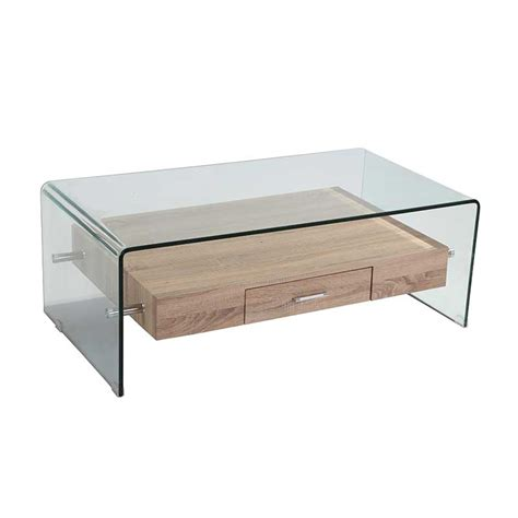 Coffee Table Tempered Glass 120x60cm 12mm Tempered Glass Coffee Table With Drawer Decofurn Factory Shop