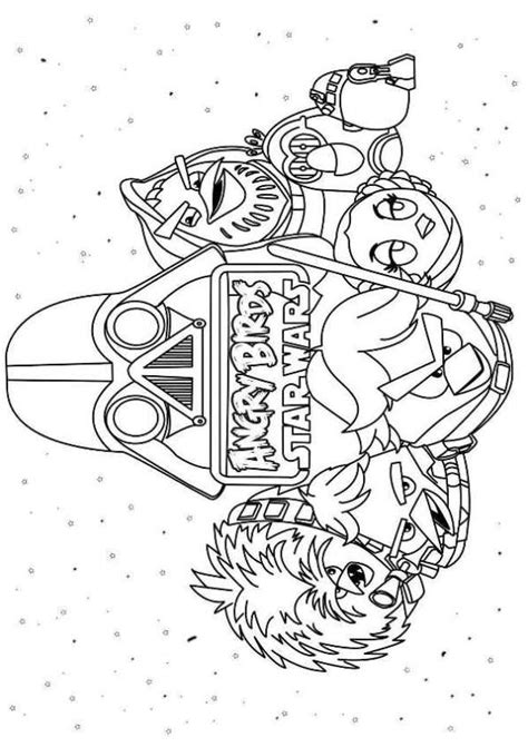 kids n fun com 7 coloring pages of angry birds star wars