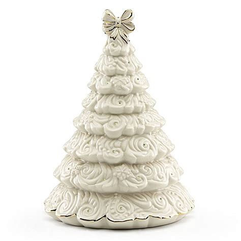 lenox 174 fiber optic lighted christmas tree figurine bed