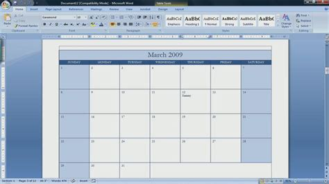 Make A Calendar In Word