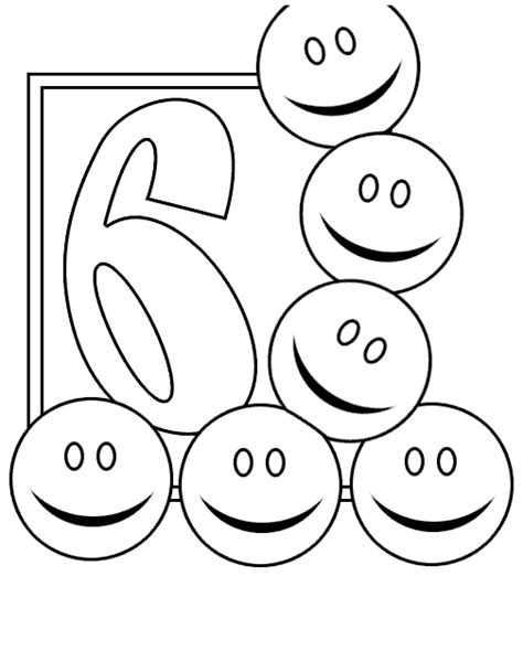 coloring page number 6 free coloring pages of the number 6