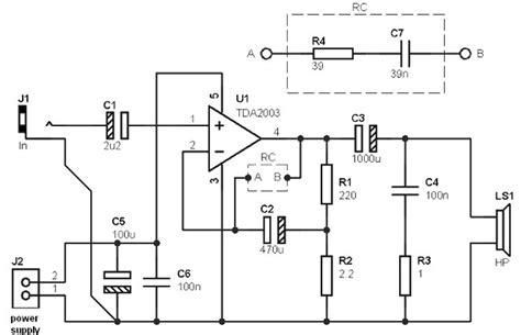 Ic Tda2003 Ic Tda 2003 Aj02 10w tda2003 lifier circuit 187 circuitszone