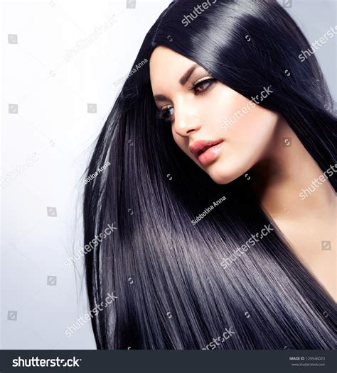 fructis hair models hairstyle gallery hair beautiful brunette girl healthy long stock photo