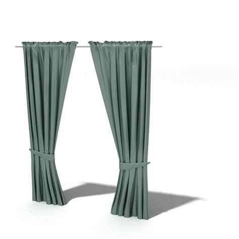 curtains drawn teal drawn curtains 3d model cgtrader com