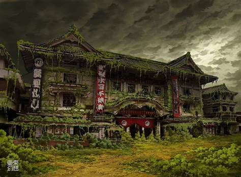 apocalyptic architecture art artistic asian buildings