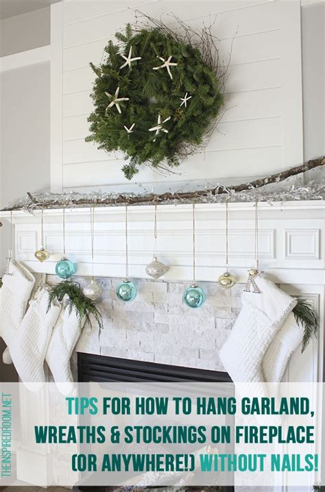 How To Hang A Garland On Fireplace by Tips For How To Hang Garland Wreaths And