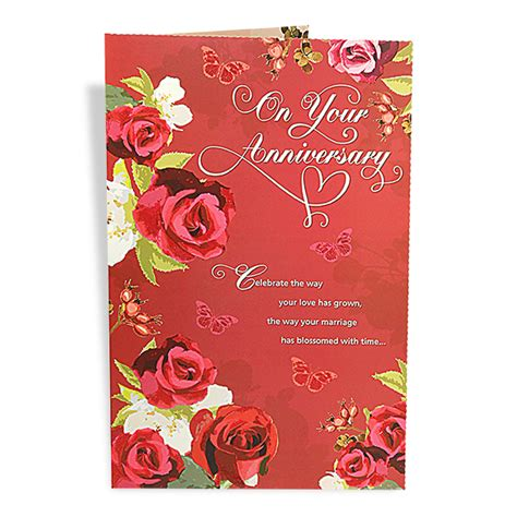 Wedding Anniversary Greeting Cards For by Happy Anniversary Greeting Card At Best Prices In India