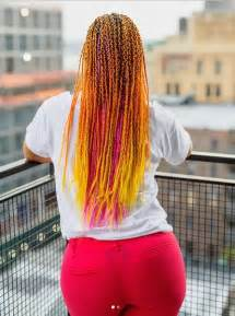colorful braids switches it up with colorful braid extensions