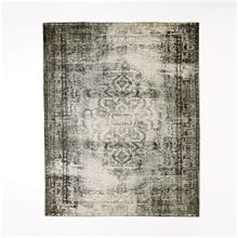 Distressed Arabesque Wool Rug Shockwave - modern area rugs floor mats and wool rugs west elm