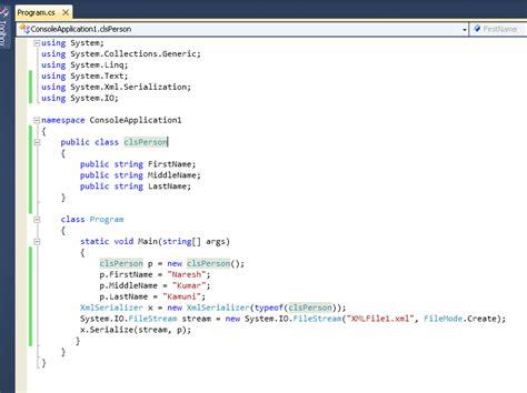 xml pattern for email net tutorial xml serialization in net