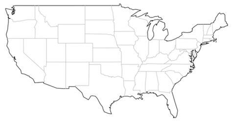 america map line easy map usa
