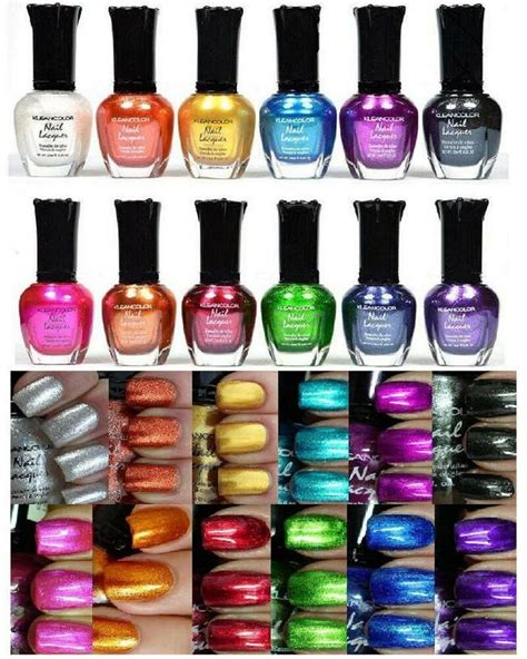 klean color 12 pcs new kleancolor size metallic lot nail