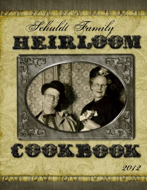 Heritage Collector Storybook Family Heirloom Cookbook Template Family Recipe Cookbook Template